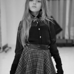 Ona Saez Kids otoño invierno 2014 pollera escocesa