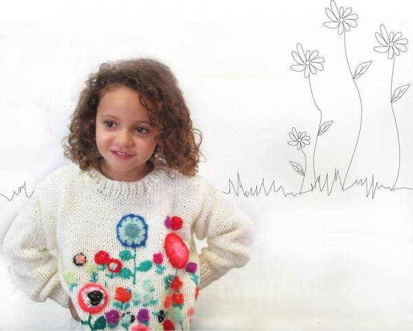 Sweater tejidos bordado nena invierno 2014 - Madastore