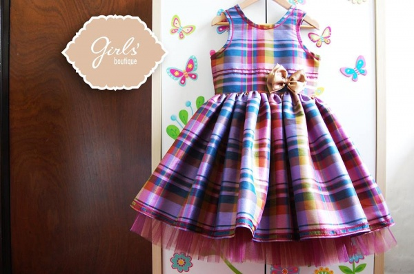 Vestido para nenas escoces Girls boutique Diseños invierno 2014