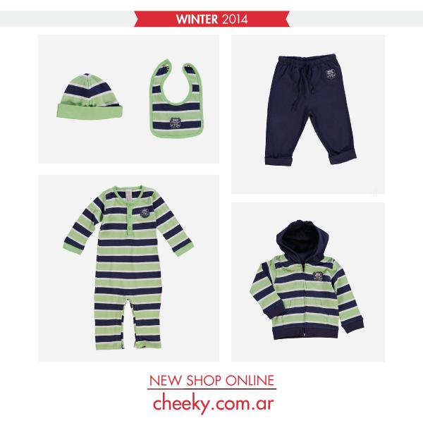 azul y verde cheeky bebe otoño invierno 2014 conjuntos