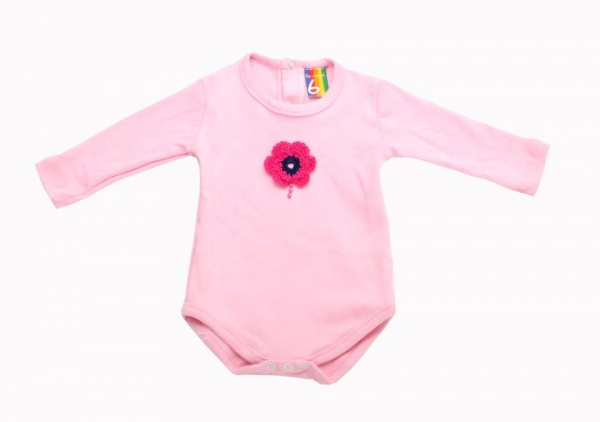 body rosa mangas largas  invierno 2014 - Me viste la nona