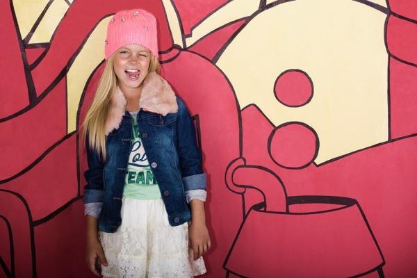 campera de jeans y pollera de encaje nena invierno 2014 - Mapamondo