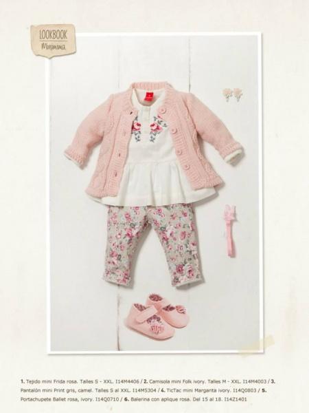cardigan y calza bebe nena Minimimo otoño invierno 2014