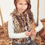 chaleco animal print nena Ce and Pe invierno 2014