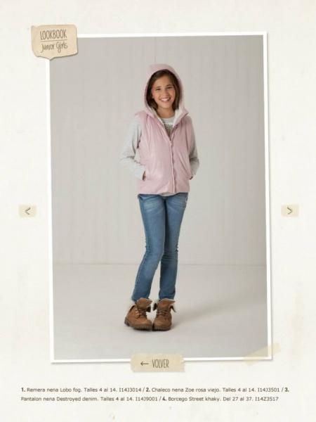 chaleco y jeans nena Mimo co otoño invierno 2014