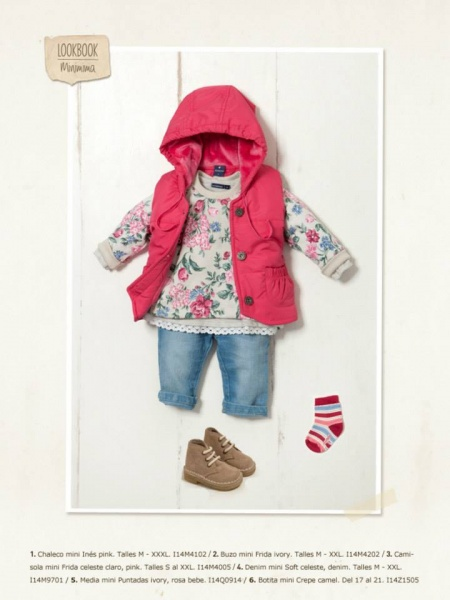 jeans y chaleco bebe Minimimo otoño invierno 2014