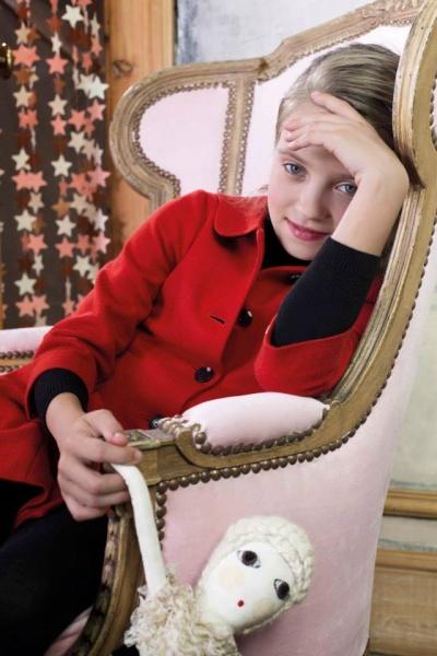 saco rojo nena invierno 2014 Paula Cahen D'Anvers Niños