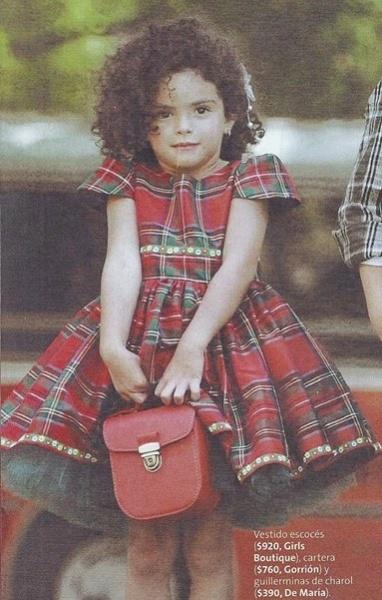 vestido escoces para nena invierno 2014 by Girls boutique Diseños - revista luz