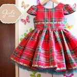 vestido para niñas escoces rojo Girlsboutique Diseños invierno 2014