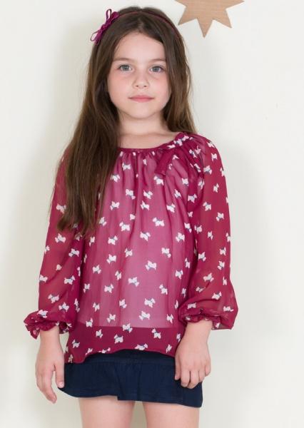 blusa de gasa nenas otoño invierno 2014 By Pioppa
