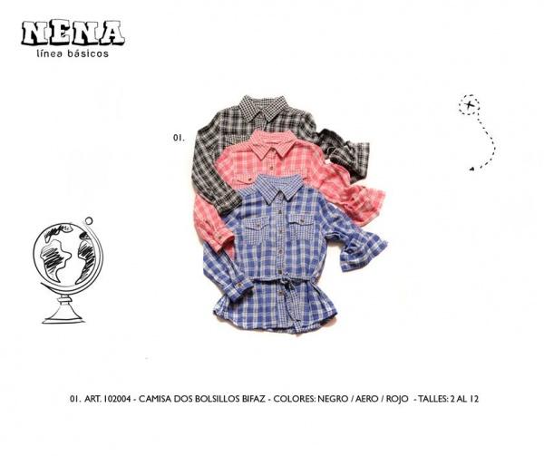 camisa a cuadros infantil Advanced invierno 2014