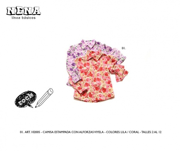 camisa estampada nena infantil Advanced invierno 2014