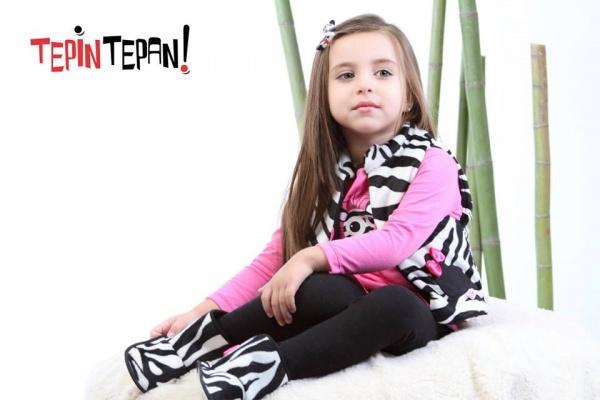 chaleco cebra nena invierno 2014 Tepin Tepan