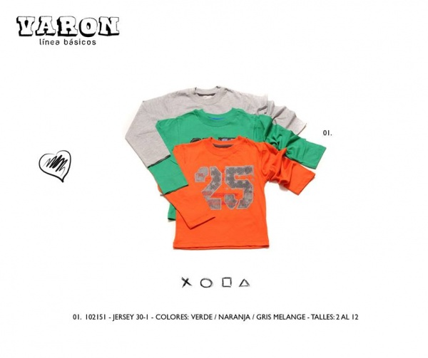 remera varon infantil Advanced invierno 2014