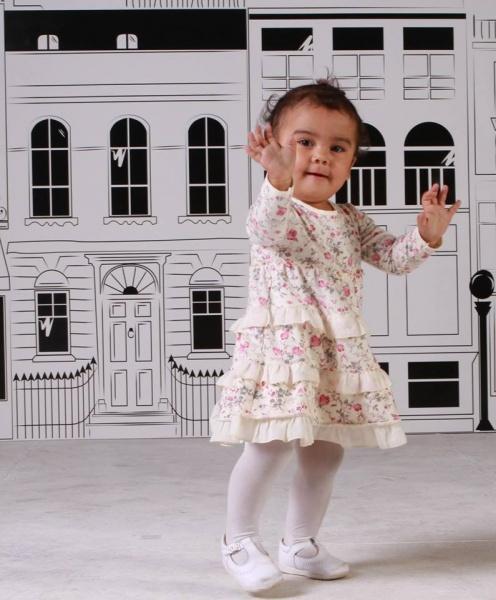 vestido de modal estampado para nenas Magdalena Esposito invierno 2014