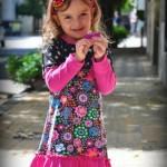 vestido estampado nena Zukutrule invierno 2014