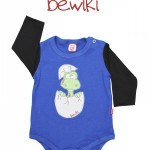 Body mangas largas bebe azul Bewiki invierno 2014