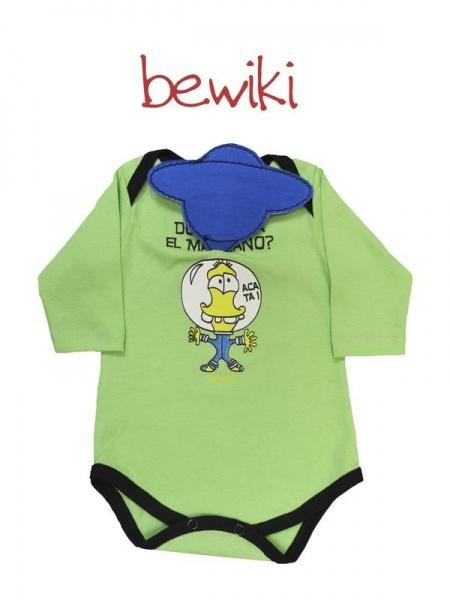 Body mangas largas bebe extraterrestre Bewiki invierno 2014