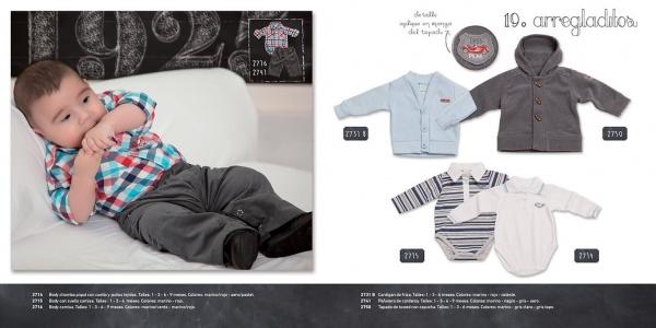 look gris y celeste para nenes Pilim invierno 2014