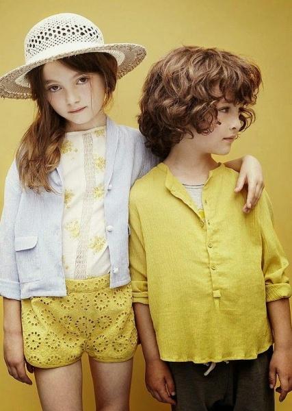 amarillo tendencia moda infantil primavera verano 2015
