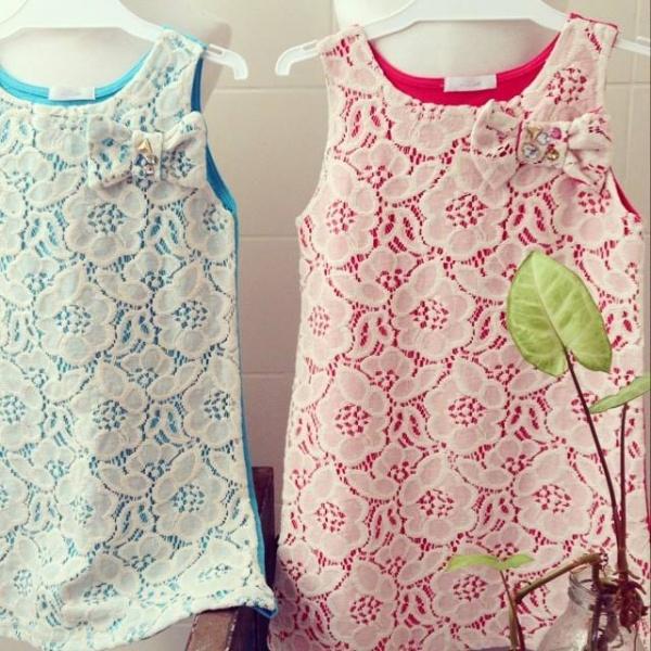 vestido de guipur con colores para niñas by GRO
