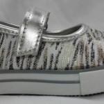 Balerinas plateadas y blancas Joe Hopi calzado infantil 2015
