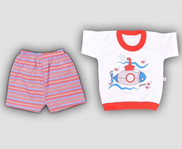 conjunto balnco y rojo bebe nene primavera verano 2015