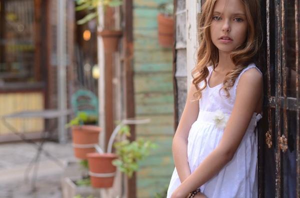 vestido blanco para niñas verano 2015 - Anavana