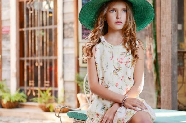 vestido para niñas verano 2015 estampa pajaros Anavana