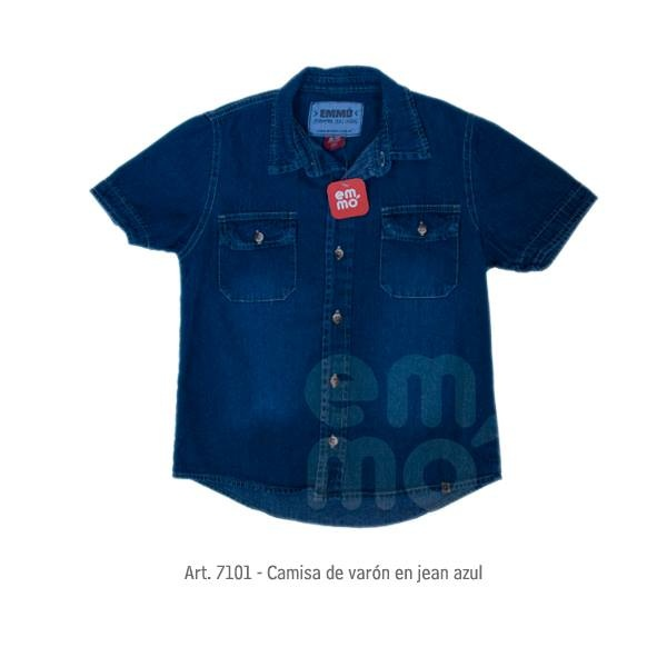 camisa jeans infantil Emmo primavera verano 2015