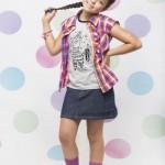 camisa y falda nena Giocare primavera verano 2015