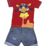 remera y bermuda de jeans nene OWOKO primavera verano 2015