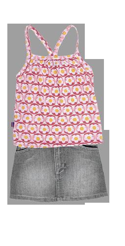 remera y falda nena OWOKO primavera verano 2015