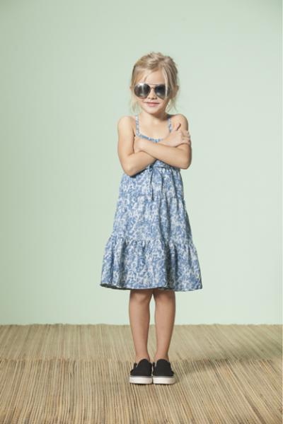 solera estampa azul Nucleo Nenas primavera verano 2015