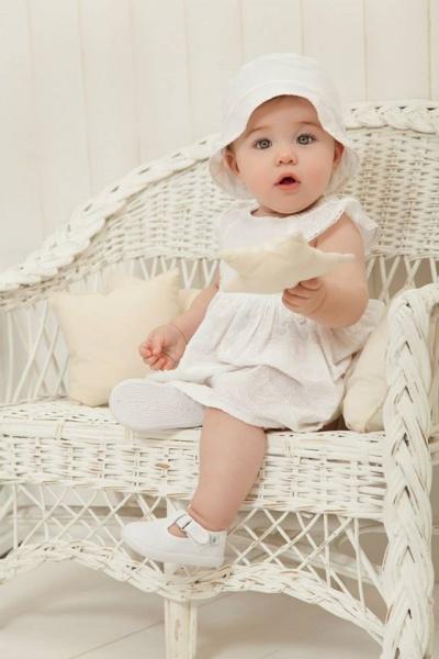 vestido blanco bebe minimimo primavera verano 2015 bebes - mimo co