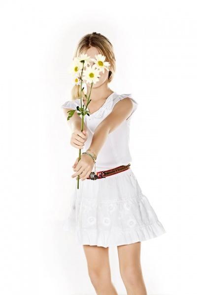 vestido blanco nena Mapamondo primavera verano 2015