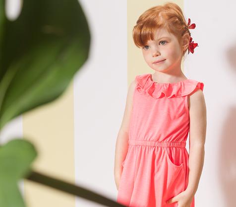 vestido coral para Nucleo Nenas primavera verano 2015