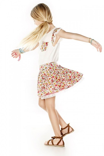 vestido estampado nena Mapamondo primavera verano 2015