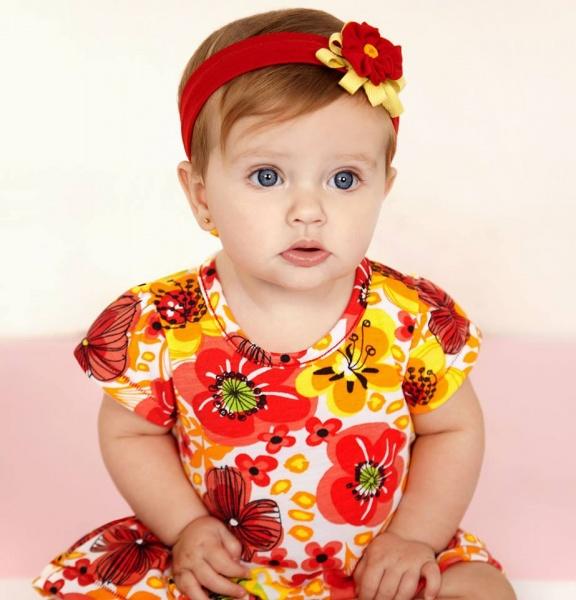 vestido floreado para bebes Baby way verano 2015