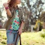 blusa camisa y bermuda nena Advanced moda infantil verano 2015