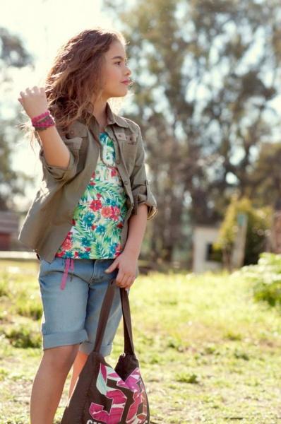 blusa camisa y bermuda nena - Advanced moda infantil verano 2015