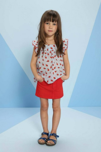 blusa y falda Pioppa primavera verano 2015