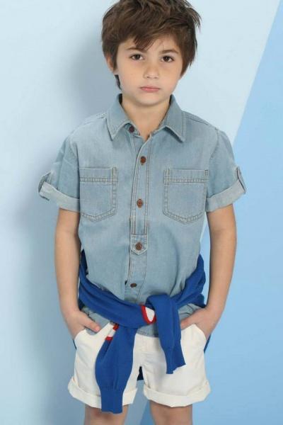 camisa jeans nene Pioppa primavera verano 2015