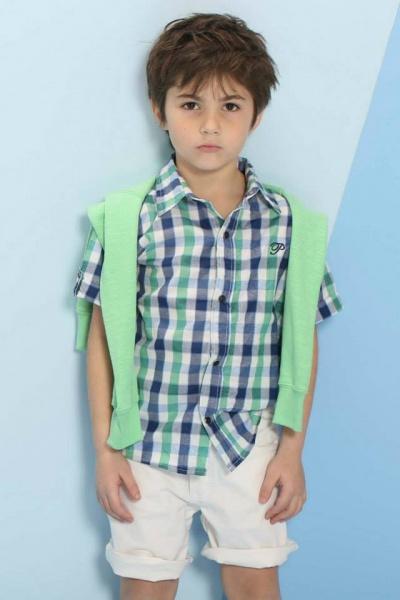 camisa para niños Pioppa primavera verano 2015