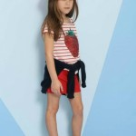 remera a rayas y short nena Pioppa primavera verano 2015