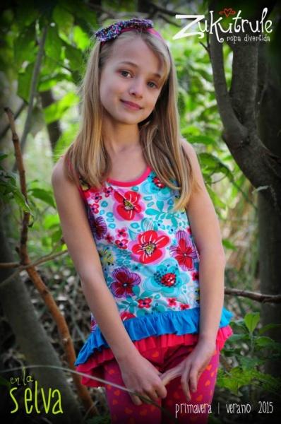 remera estampada nena Zukutrule primavera verano 2015