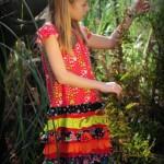 vestido para el dia con volados Zukutrule primavera verano 2015