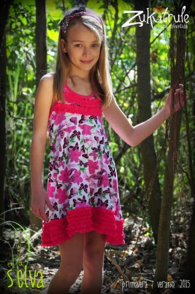vestido para el dia estampado Zukutrule primavera verano 2015
