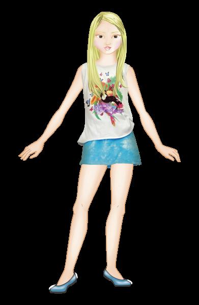 remera estampa tropical con falda turquesa Tipoteo primavera verano 2015