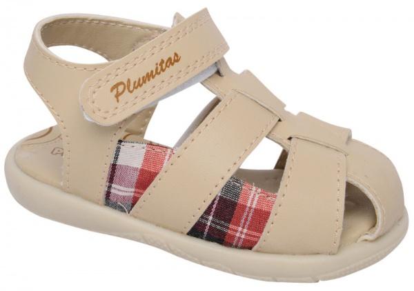 sandalia natural para bebes Plumitas verano 2015